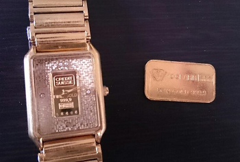 K24インゴット入り時計と10g金インゴット買取り品.png