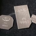 【プラチナ買取】 Pt999.5刻印のプラチナ板材買取