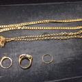 K18ネックレス・Pt900/K18コンビの指輪を買取|さいたま市浦和区