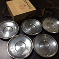 秦蔵六造の純錫製茶托を買取