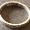 PT・G1000刻印の指輪を買取|K24とPt1000のコンビ
