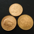 純度90% K21.6金貨を3枚買取